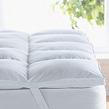 Home Sweet Home Dreams Thick Hypoallergenic Down Alternative Bed Mattress Topper, Queen, 2  H