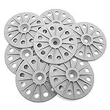 200 pcs 60 mm 30% renforcé en fibre de verre Rondelles de fixation pour planches à isolation rigide, gris moyen, blanc