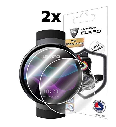 for LEMFO LEM7 / LEM8 SmartWatch Screen Protector (2 Units) Invisible Ultra HD Clear Film Anti Scratch Skin Guard - Smooth/Self-Healing/Bubble -Free by IPG