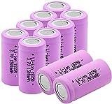 3.7V 1500Mah 18350 Batería Recargable De Iones De Litio 10A Batería De Fuente De Alimentación De Descarga Continua para La Cámara del Faro Radio Micrófono Toy-6Pcs