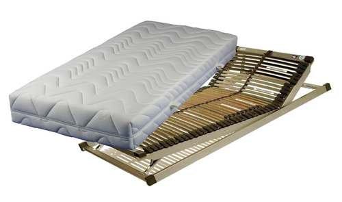 LUXUS-SET bestehend aus: Breckle Vital Spring 5-Zonen Taschenfederkernmatratze in 100x200 cm im Härtegrad 2 / H2 plus Lattenrost TECHNO-FLEX verstellbar in 100x200 cm – sofort lieferbar
