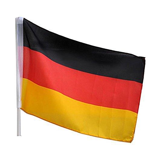 Idena 8310097 - Autofahne Deutschland, Größe 30 x 45 cm, Nationalflagge, schwarz, rot, gold, Fensterfahne, WM, Weltmeisterschaft, EM, Europameisterschaft, Fußball, Handball, Fanartikel, Autofenster