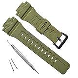 OliBoPo - Cinturino di ricambio per orologio Casio SGW-300H AE-1200 W-800H AQ- S800W AQ-S810W Outshine