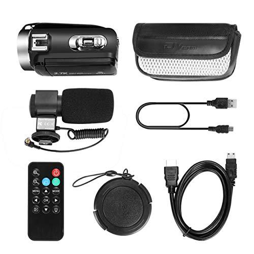 Kongqiabona-UK Cámara Cámara de Video Digital de Alta definición de 30 Millones de píxeles Cámara WiFi para el hogar DV con Control Remoto y micrófono