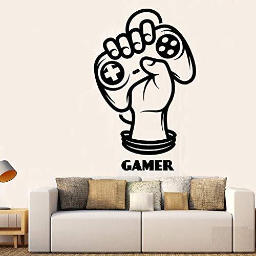 Adesivo da parete per giocatore con joystick a mano, zona di gioco Decorazione per camera per adolescenti Adesivo per camerette Adesivo murale per arte fai-da-te A2 47x30cm