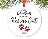 ymot101 Weihnachtsdekoration, Rettungskatze, personalisierbar