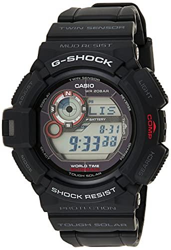G-Shock G-9300-1ER - Reloj digital de caballero de cuarzo con correa negra