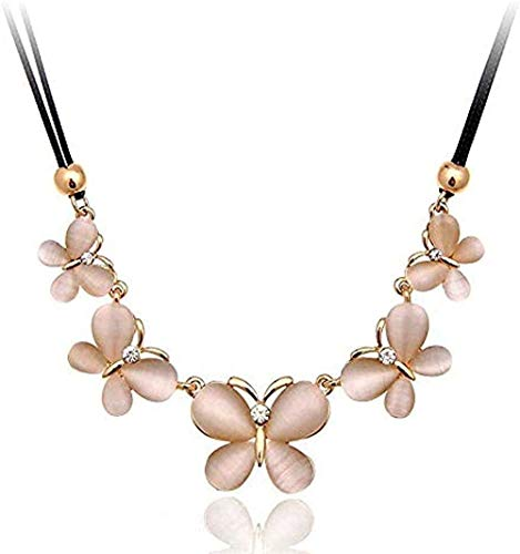 ZPPYMXGZ Co.,ltd Necklace Fashionable Short Butterfly Opal Chain Clavicle Chain.