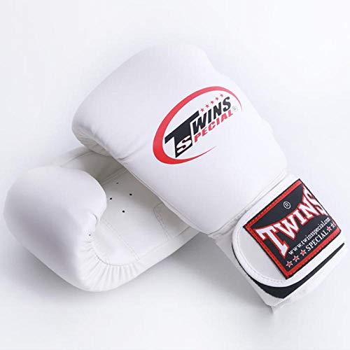 SHOUTAO 10 Unzen 12 Unzen 14 Unzen Männer Frauen Kinder Boxen Zwillinge Kick Boxhandschuhe PU Leder Karate MMA Handschuhe Boxhandschuhe Muay Thai EIN Paar T@Weiß1_12oz