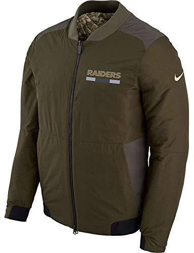 LAS Vegas Raiders Men's NFL Salute to Service Reversible Bomber Jacket (X-Large)