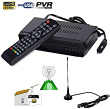 FidgetFidget 1080P ISDB-T Digital Terrestrial Convertor TV BOX Receiver PVR + 5dBi Antenna
