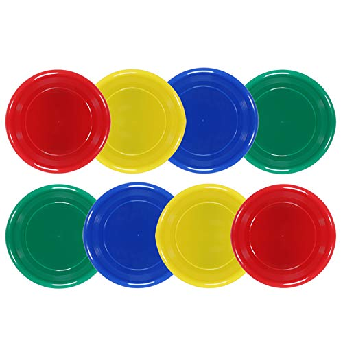 Flying Discs for Kids and Adults Plastic Flying Disc Set for Outdoors Backyard Beach Sports | 95 Grams Set of 8