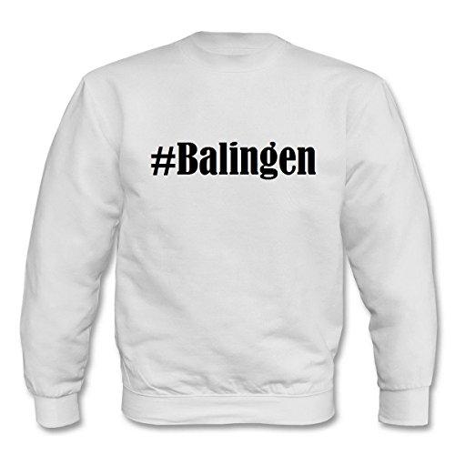 Reifen-Markt Sweatshirt #Balingen Größe 2XL Farbe Weiss Druck Schwarz