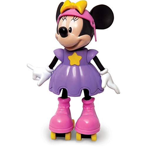 Boneca com Mecanismo Minnie Patinadora 25 Cm, Elka, Multicor