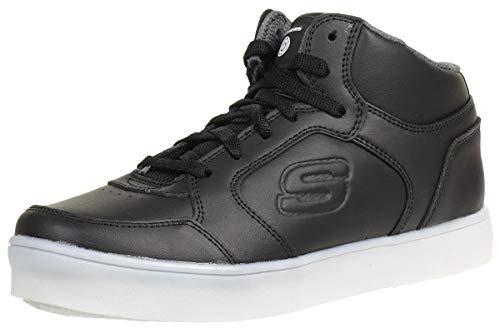 Skechers Energy Lights, Zapatillas Altas Hombre, Negro (BLK Black Leather/Black Trim #L), 37 EU