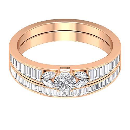 Rosec Jewels 14 quilates oro rosa round-brilliant-shape baguette-shape marquise-shape H-I Diamond