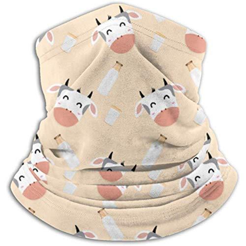 Xian Shiy Muster Kuhglas Milch Traditioneller Schal, Vollmaske oder Hut, Halsmanschette, Halskappenmaske, Halbmaske, fac