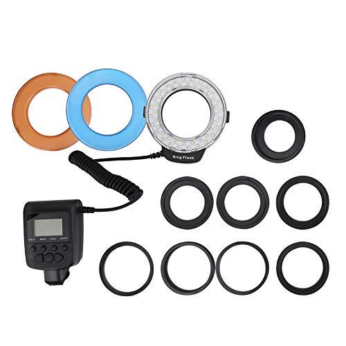 Ladieshow Portable 48 LED anillo de luz de flash con adaptador de...