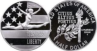 1992 S Olympic Commemorative Gymnastic Half Dollar Proof US Mint