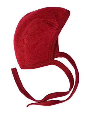 Engel Baby Häubchen Wollfleece, 62-68/62/68, rot Melange