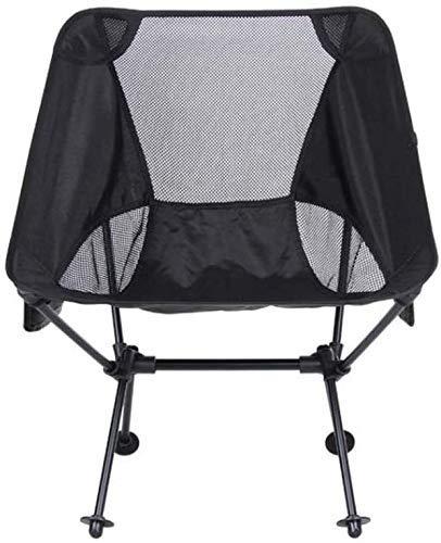 WJXBoos Silla plegable de camping plegable portátil de pesca soporta 150 kg, para fiestas en la playa, pesca, camping, senderismo y actividades al aire libre (color: negro)