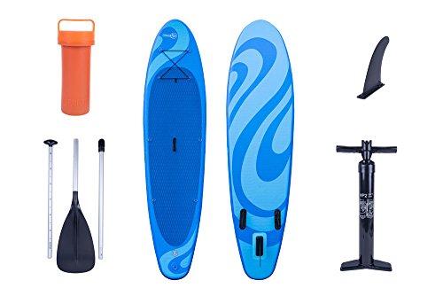 OceanFun Sup Wave Stand Up Paddle gonfiabile Set con pompa ad alta pressione borsa remo ed accessori 300 x 76 x 10