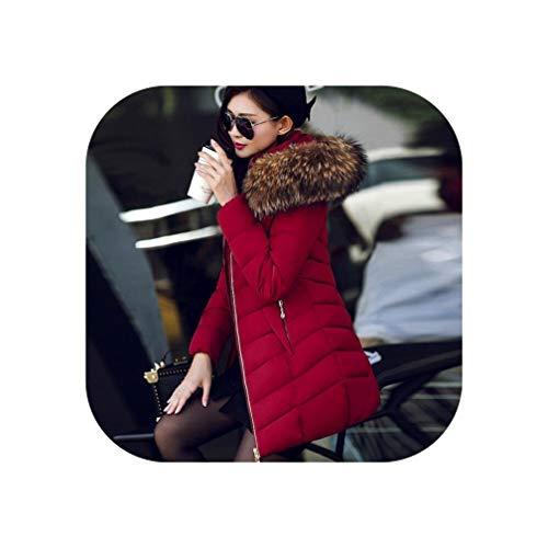 Goods-Store-uk Winter Warm Down Jassen Grote kraag Lady Katoen Gewatteerde Bovenkleding 6XL