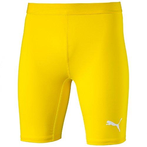 PUMA Herren Hose TB Shorts Tights, cyber yellow, S