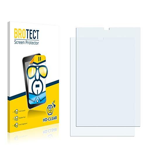 BROTECT Schutzfolie kompatibel mit Evga Tegra Note 7 (2 Stück) klare Bildschirmschutz-Folie