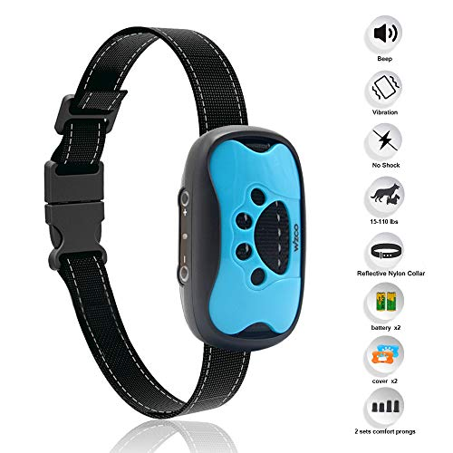 WIZCO Dog Bark Collar- Humane Anti Barking Training Collar - Vibration No Shock Dog Collar - Stop Barking Collar for Small Medium and Large Dogs - Best No Barking Dog Collar