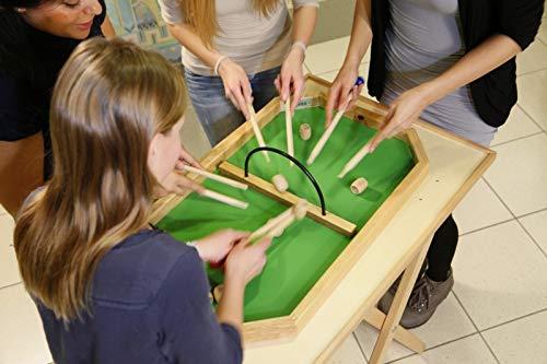 WeyKick Barik 260 / Tischspiel/Minispielausgabe für 2-4 SpielerInnen / Material: Holz / Spielfläche: 71 x 46 cm