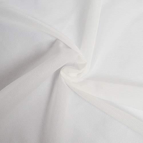 Toile thermocollante tissée fine, souple, sans effet carton - Entoilage thermocollant - Thermocollant couture tissé et stretch vendu par coupon de 2 mètres - Largeur 90cm (BLANC)