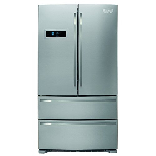 Hotpoint FXD 822 F Freestanding 542L A+ Acciaio inossidabile side-by-side refrigerator - Side-By-Side Fridge-Freezers (Freestanding, Acciaio inossidabile, French door, Door-on-door, 542 L, ST)