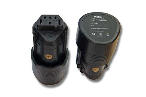 vhbw 2x Li-Ion Batteria 1500mAh (12V) per apparecchi AEG BLL12C, BS12C, BS12C2, BSS12C, BWS12, BWS12CBWS come 3520, 3526, 4932, 584932, 954932, L1215.