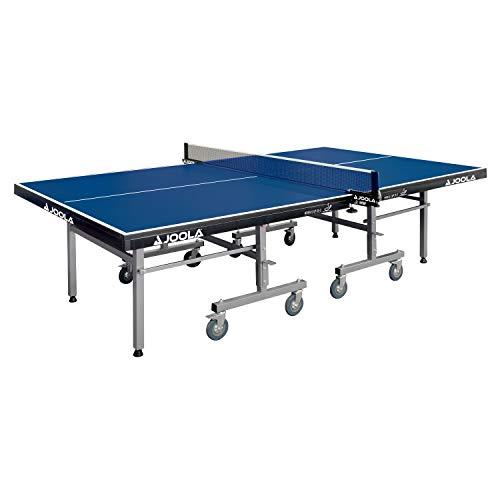 JOOLA Tischtennistisch World Cup 25-S | Indoor Tischtennisplatte ITTF Wettkampf Zulassung | Klappbares Untergestell - Schneller Aufbau, Blau, 25 MM Plattenstärke