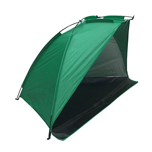 Camping Tent,Carp Fishing Bivvy Day Shelter Tent Outdoor Portable Fishing Tent Beach Sun Protection Camping Picnic Tent for 1-2 Person (Green)