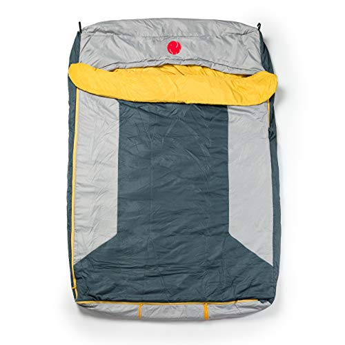 OmniCore Designs Multi Down Double Wide Hooded Rectangular Sleeping Bag (10F to 30F) with 4pt. Compression Stuff Sack