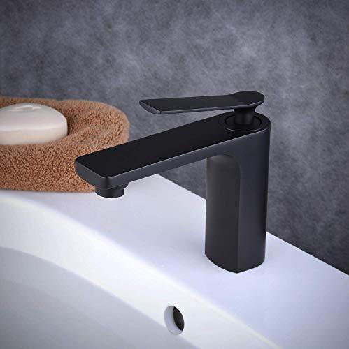 Beelee Single Handle Single Hole Messing Badkamer Vanity Kraan Basin Mixer Tap, Schilderij Zwart