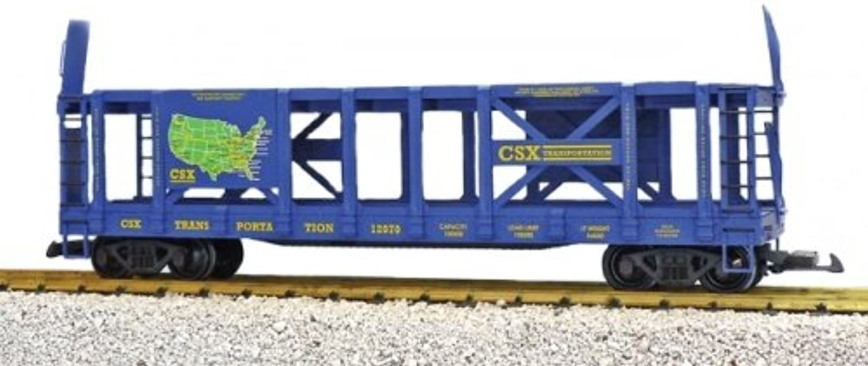 USA-TRAINS Autotransporter CSX, blau, Doppelstock Auto Carrier, Spur G