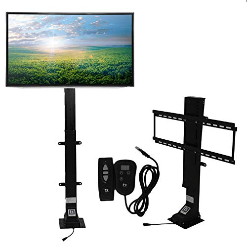 """Touchstone Valueline 30003 Motorized TV Lift with Remote Control for Large Screen 26-50 inch TVs, 28"""" Height Adjust, 170 lb. Capacity, Height Memory, Flat-Lid Mount, RF & Wired Remote"""