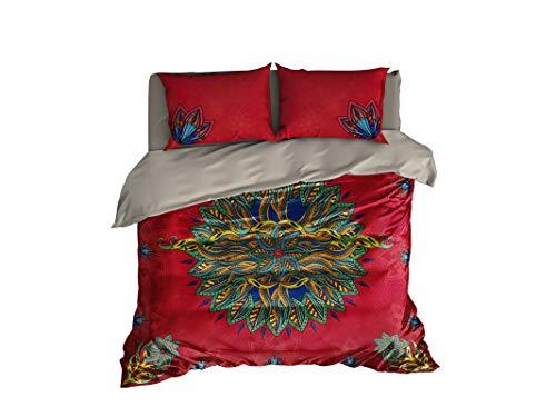 Sunshine Mandala Bedding Set Designed by Cool Lenzuola, Copripiumino Mandala o piumone, Singolo Full Queen King Bedding, Colorful, Queen Set 95'x87' $196