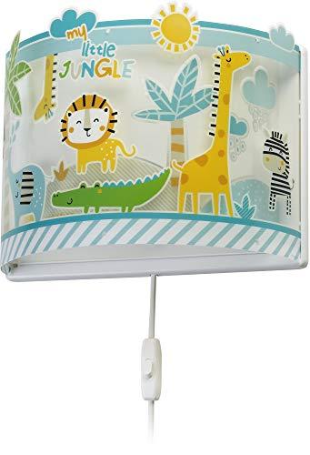 LED Kinderlampe Tiere Giraffe Elefant Krokodiel Palme 76118 Dimmbar warmweiß 1000lm Jungen & Mädchen Kinderzimmerlampe Deckenlampe