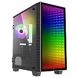 GameMax Mini Abyss ARGB Micro-ATX PC-Gaming-Gehäuse, MATX, 3-poliger Aura Sync, 1 x 120 mm ARGB Lüfter enthalten, ARGB Hub, 5 Lüfter-Unterstützung, Wasserkühlung bereit | Schwarz