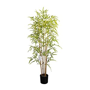 momoplant 5ft- 59INCHS Artificial Bamboo Silk Fake Trees for Indoor/Outdoor Decor