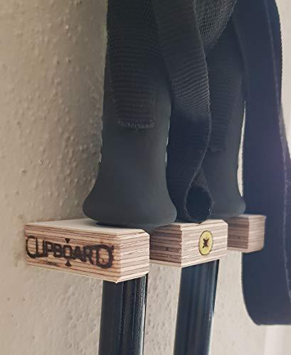 Clipboart ® Soporte de pared para bastones de esquí y esquí