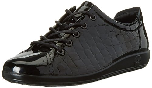 ECCO Soft 2.0, Scarpe Stringate Derby Donna, Nero (BLACK51052), 43 EU