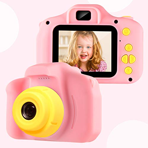 VATENIC Kids Camera Children Digital Cameras for Girls Toys 1080P 2 Inch Toddler Video Best Birthday Gift for 3-10 Year Old Girls with 32GB SD Card (Pink)