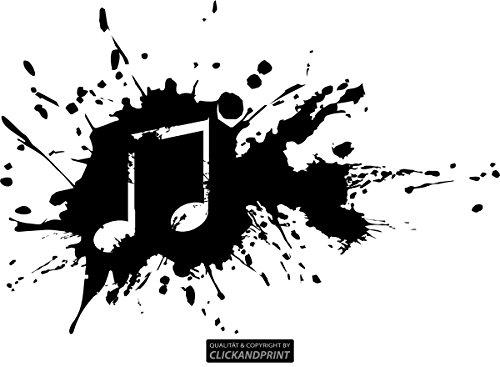 CLICKANDPRINT Aufkleber » Music Splash, 20x13,4cm, Schwarz • Wandtattoo/Wandaufkleber/Wandsticker/Wanddeko/Vinyl