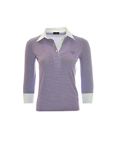 Fred Perry Damen Poloshirt mit Dreiviertelärmeln, Weiß X-Large