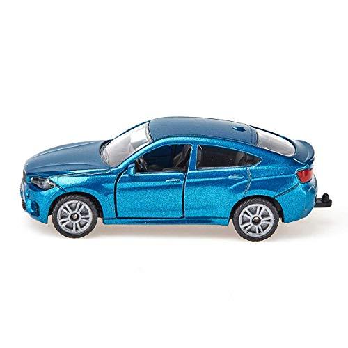 siku 1409, BMW X6 M, Metall/Kunststoff, Blau, Spielzeugauto für Kinder, Öffenbare Türen